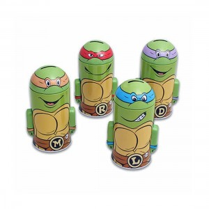 4 TMNT Teenage Mutant Ninja Turtles Molded Saving Banks