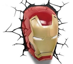 Iron Man 3 Mask Superhero 3D Deco Light
