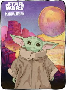 Jay Franco Star Wars The Mandalorian The Child Baby Yoda First Meeting Blanket