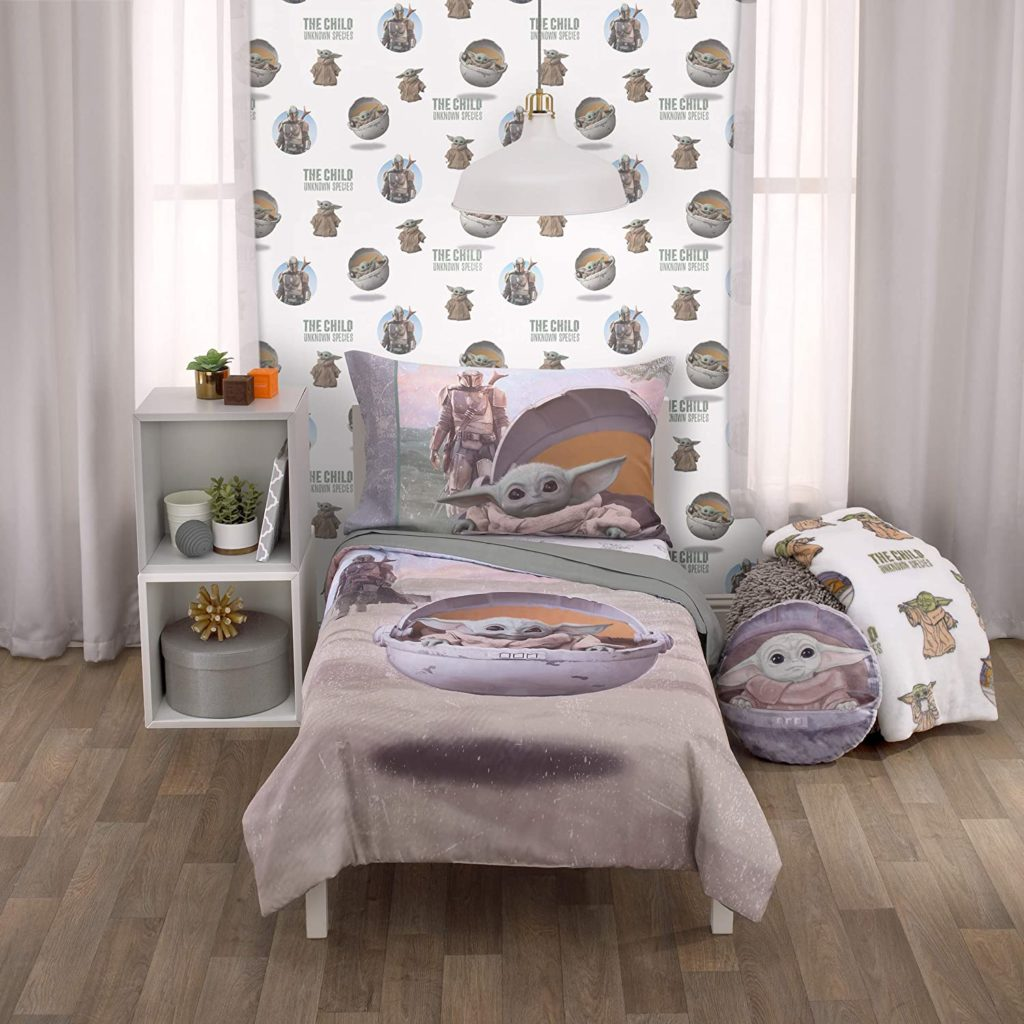 Star Wars The Mandalorian The Child 4 Piece Toddler Bed Set