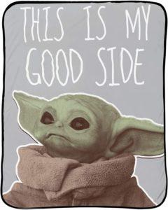 Jay Franco Star Wars The Mandalorian My Good Side Throw