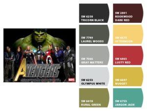 Avengers Color Scheme