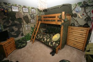 Camouflage Boy Room Bunk Beds