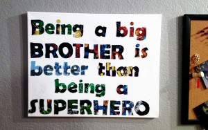 DIY Boys Room Decor Superhero Sign