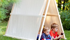 DIY Drop Cloth Play Tent