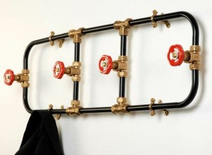 DIY Firemen's Coat Rack