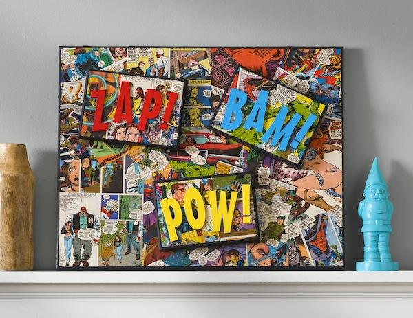 DIY Super Hero Canvas Art