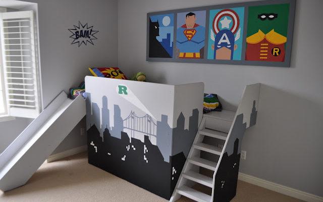DIY Super Hero Loft Bed