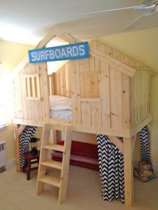 DIY Surf Shack Loft Bed