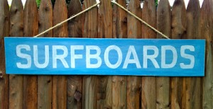 DIY Surfboards Sign