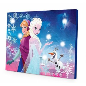 Disney Frozen Elsa and Anna LED Canvas Wall Art
