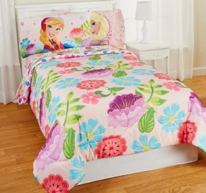 Disney Frozen Full and Twin Sheets and Comforter Set, Floral Breeze