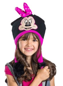 Disney Minnie Mouse Black and Pink Flipeez Hat