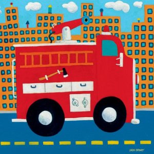 Fire Truck Kids Art