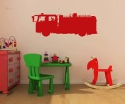 Fire Truck Vinyl Wall Decal