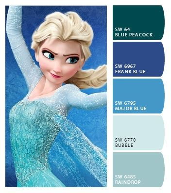 Frozen Elsa Colors