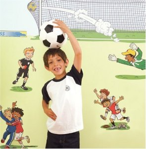 FunToSee Room Makeover Wall Sticker Decal Kit, Soccer