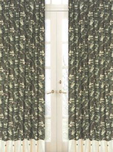 Green Camo Window Treatment Panels by Sweet Jojo Designs