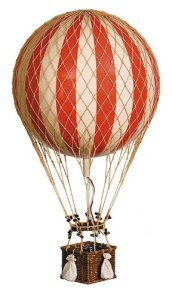 Jules Verne Balloon Hot Air Balloon Color Red