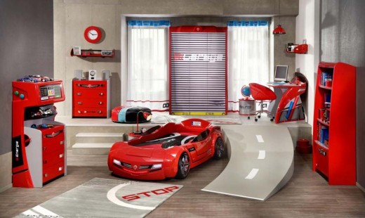 Kids race car room