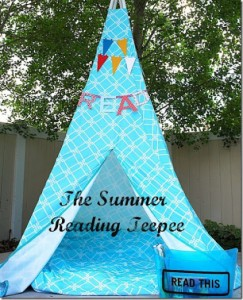 Make a Reading Teepee!