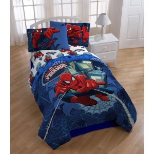 Marvel Ultimate Spiderman Full Comforter & Sheet Bedding Set Spider-Man