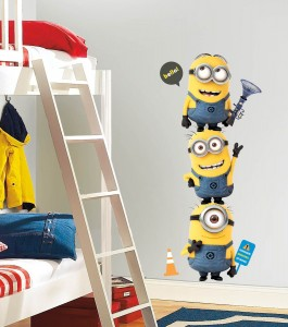 Minions stacking Wall decals