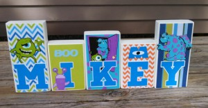 Monster Inc Letters