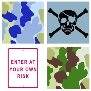 Neutral Risk Camo Wall Decals Appliques