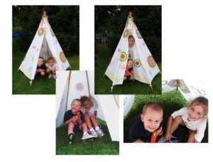 No Sew Kids Play Tent!