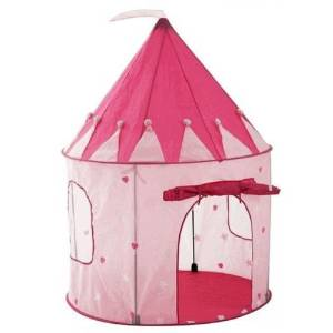 Pink Princess Castle Fairy House Kids Play Tent