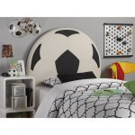 Powell Furniture Upholstered Soccer Ball Headboard, Twin