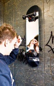 Skateboard Wall Mirror