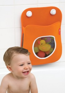 Skip Hop Tubby Bath Toy Organizer Orange