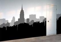 Skyline wall mural