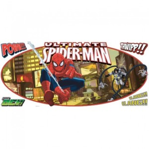 Spiderman Ultimate Spiderman Headboard Peel and Stick Giant Wall Decal