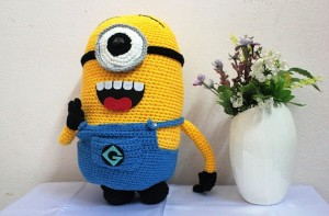 Super Cute Minion! Super Hot Minion! Yellow Crochet Minion