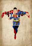 Superman - Minimalist Typography Poster