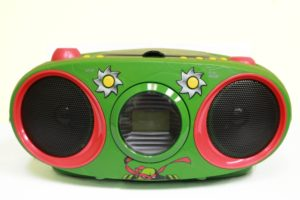 Teenage Mutant Ninja Turtles Boombox CD Player with Text Display