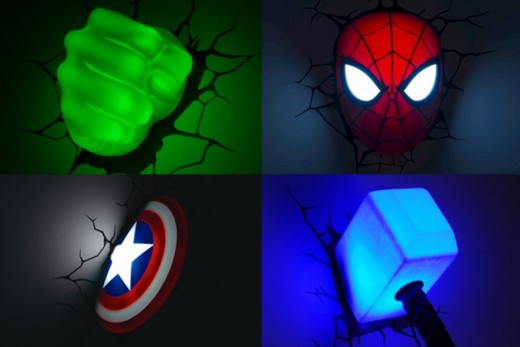 Wicked Super Hero Wall Lights!