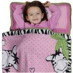 Zebra Print Safari Pink Toddler Nap Mat