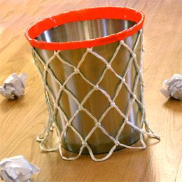 DIY Basketball Waste Basket
