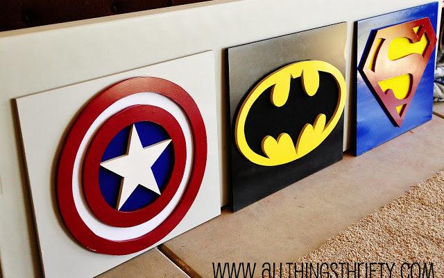 Design Your Own Super Hero Wall Art