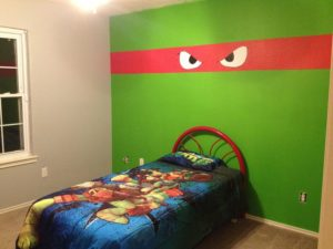 Ninja Turtle Wall Paint